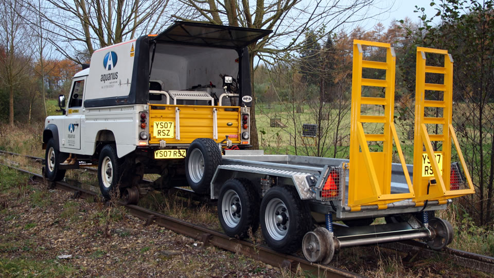 Road Rail Plant Trailer