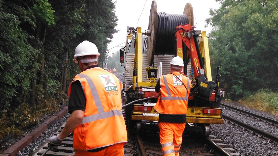 Rail Canter Cable Pulling at Nexus Tyne & Wear