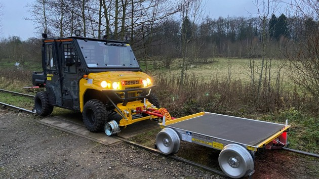 Aquarius Rail supplies Network Rail Bedford with a Rail Mule and & Ultra Light Trailer
