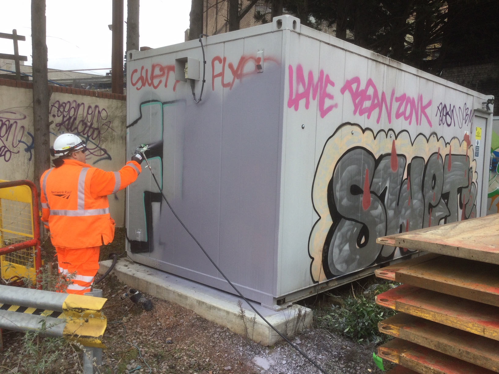 """""""We spend more than £3.5m every year removing graffiti -money that could be better spent improving the railway."""""""